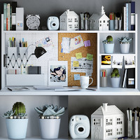 Workspace decor set