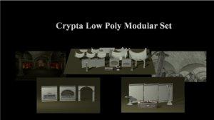 3d crypta modular set model