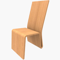 3d chair design wood