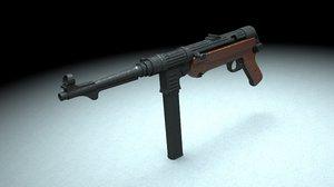 3d model maschinenpistole mp 40