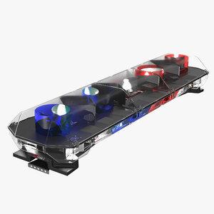 3d model police lightning bar code