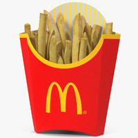 3d french fries mcdonalds