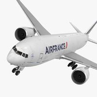 boeing 777 freighter air france 3d obj