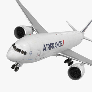 boeing 777 freighter air france 3d obj