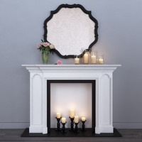 decorative fireplace 3d max
