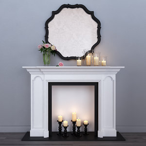 decorative fireplace 3d max