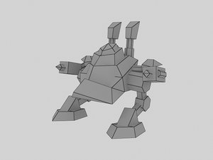 3d battle mech model