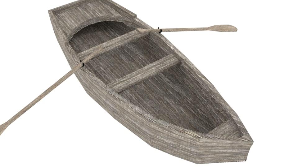 3d boat rowboat model