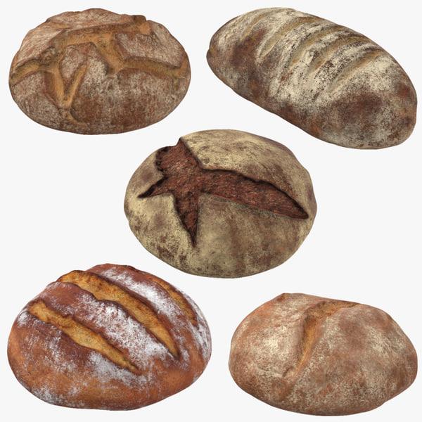 bread loafs 3d model