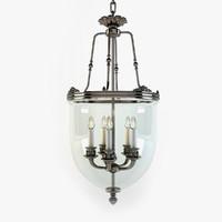 lantern 5 lamps 3d max