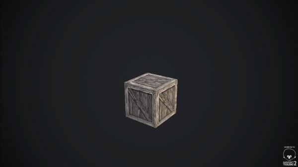 wooden box obj