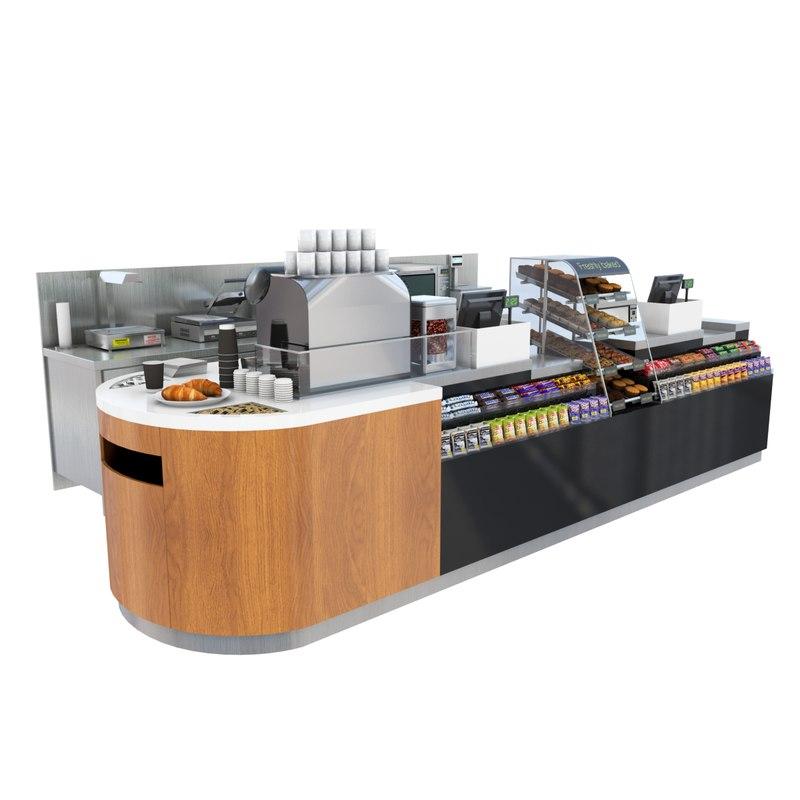 Exhibition Stand Revit : D model cafe shop counter
