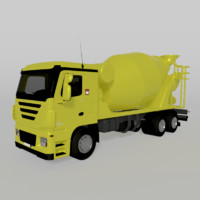 truck cartoon 3d model