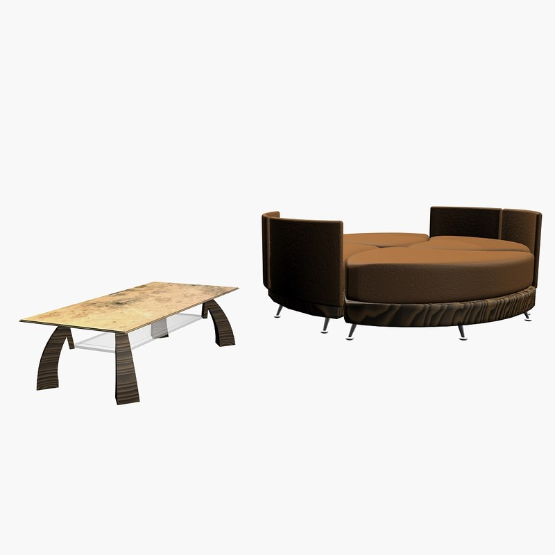mix sofa table 3d 3ds