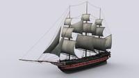 Sailing warship corvette