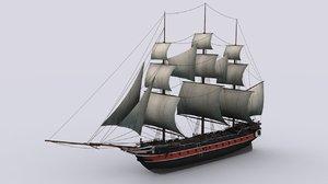 sailing warship corvette max