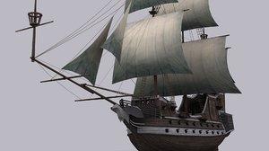 3d model galeon