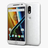 motorola moto g4 white 3d model