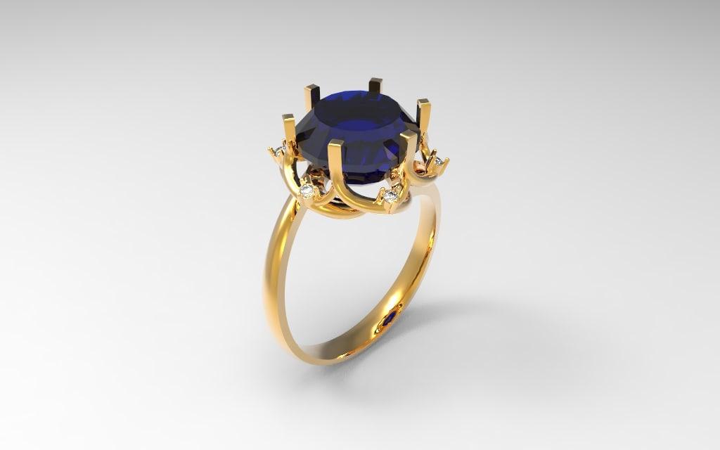 3d obj jewwel ring