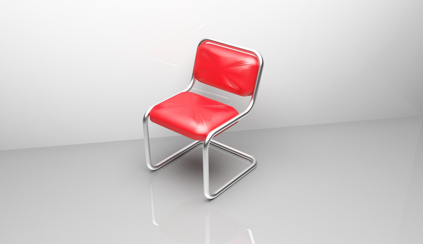 beautiful red chair 3d model