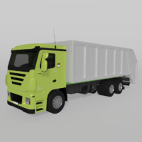 truck cartoon 3d fbx