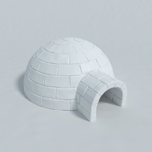 3d model igloo blender