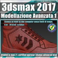 023 3ds max 2017 Modellazione Avanzata 1 v.23 Italiano cd front