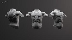 arms torso 3d obj
