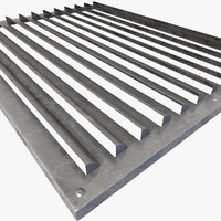 3d model grating hardwares mesh