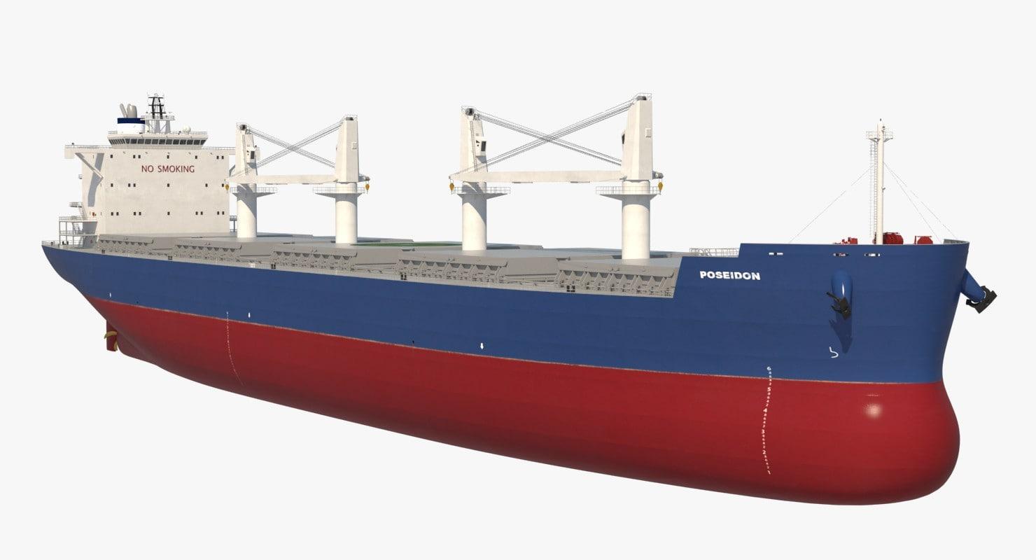 3d bulk carrier ship