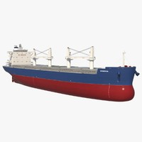 3d bulk carrier ship