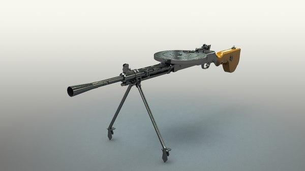 3d dp-27 machine gun