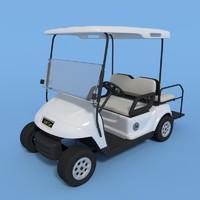 3d obj golf cart
