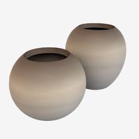 3d modern pots