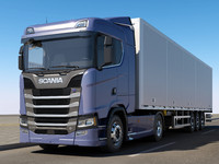 3d scania s 730 normal model