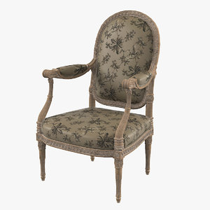 3d model victorian chair