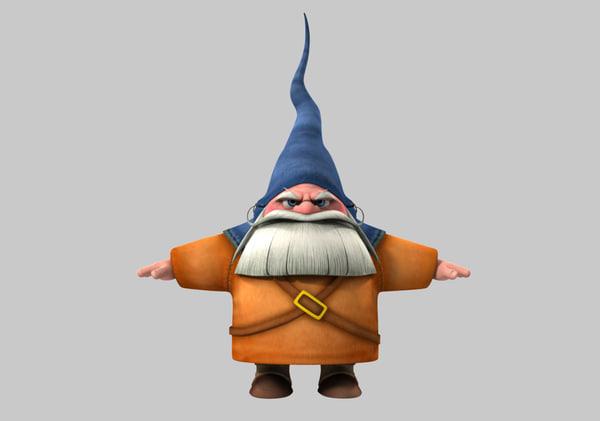 3d model gnome cartoon