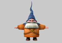 3d model gnome cartoon