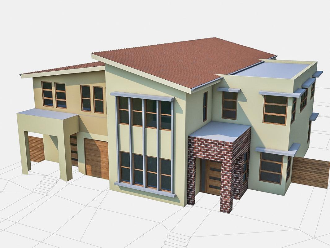 neighborhood townhouses houses 3d max