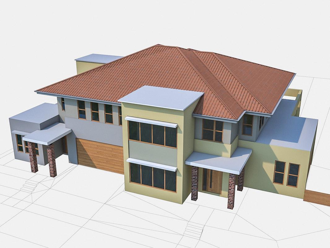 3d neighborhood townhouses houses