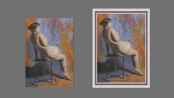 3d model art poster frame