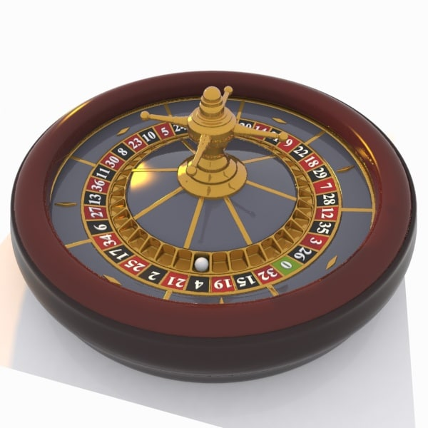 3d roulette cartoon toon model