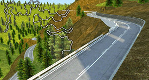 hill race track 3d max
