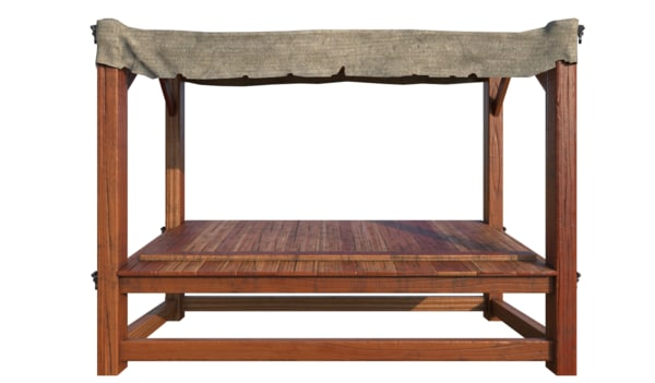 3d medieval stall model