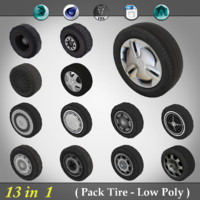Pack Tire - Low Poly