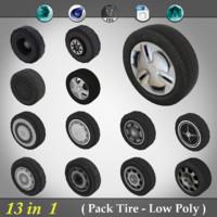 3d model pack tire -