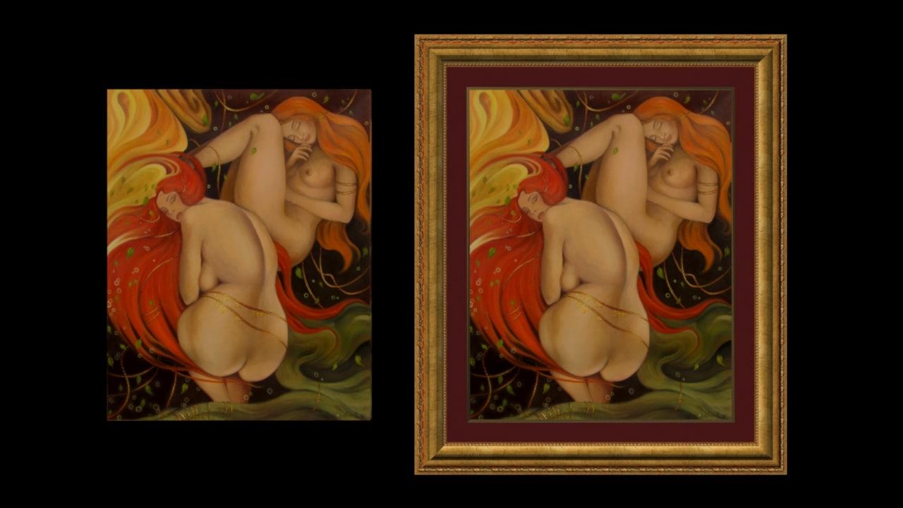 art painting 3d max