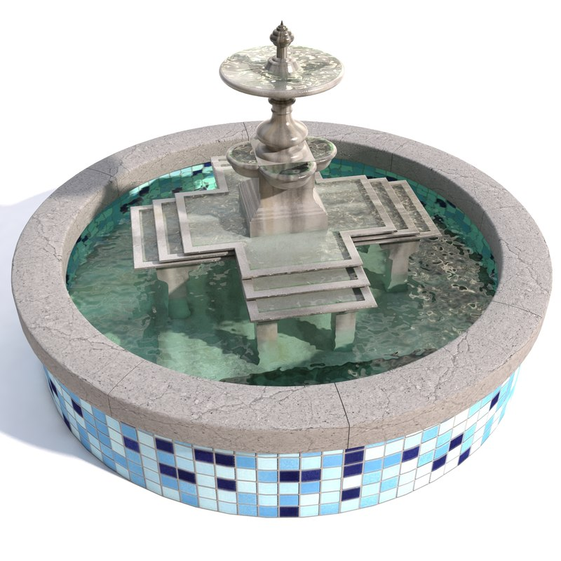 water fountain 3d model