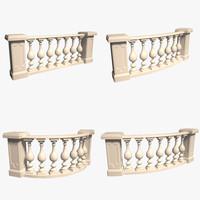 balustrade 3d model