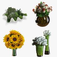 flowers 3d obj